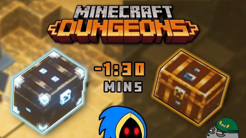 FARM DE LENDÁRIOS SUPER RÁPIDO! DOIS BAÚS RAROS EM MENOS DE UM MINUTO E MEIO! – Minecraft Dungeons