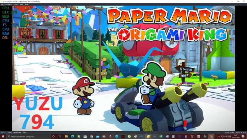 Paper Mario: The Origami King - YUZU 794 Opengl