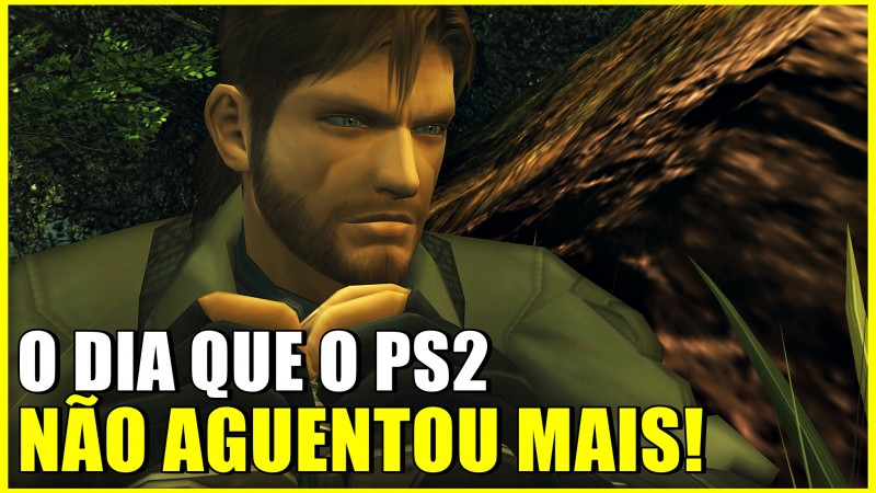 O PS2 FOI AO LIMITE COM METAL GEAR SOLID 3?