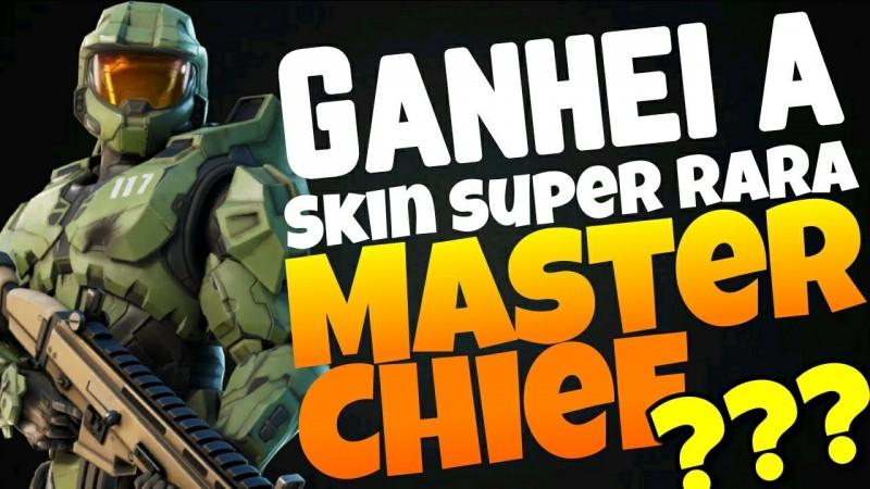 GANHEI A SKIN SUPER RARA DO MASTER CHIEF HALO NO FORTNITE