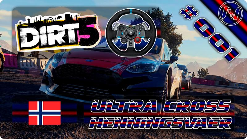 DiRT 5 | Playthrough | G29 | Noruega | Ultra Cross | Henningsvaer | Ford Fiesta R5 MKII