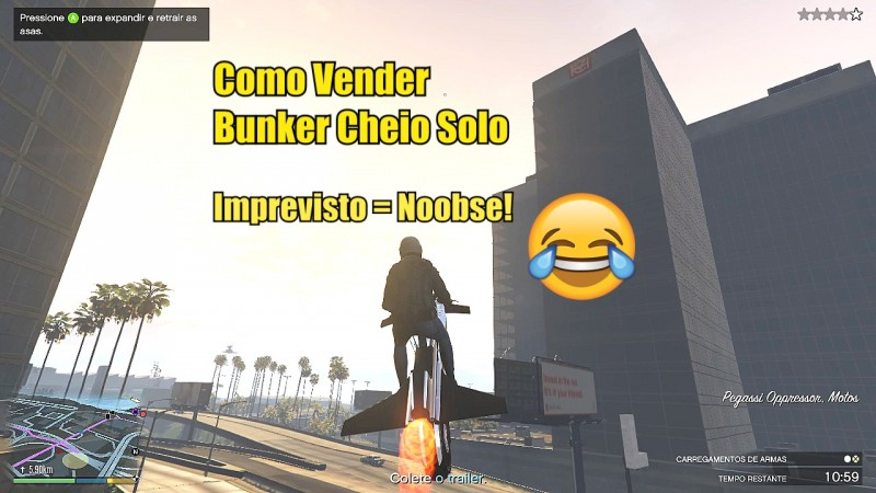 GTA V - Vendendo Bunker Cheio Solo!