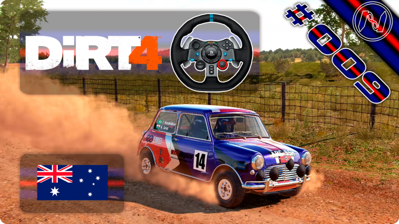 DiRT 4 | Playthrough | G29 | Austrália | Historic Rally E2 - S4 | Ellis Farm | Mini Cooper S