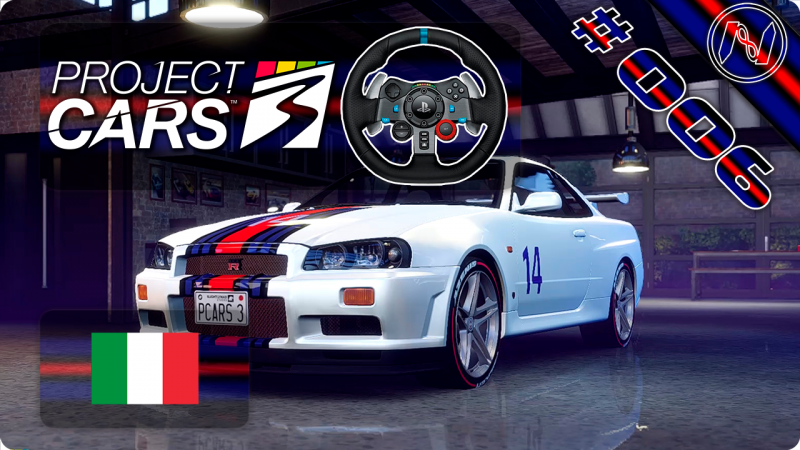 Project Cars 3 | Playthrough | G29 | Itália | Road E 5-16 | Hot Lap | Nissan Skyline GT-R R34
