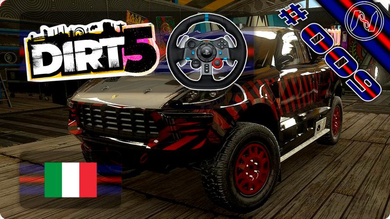 DiRT 5 | Playthrough | G29 | Itália | Stampede | Foci Di Giovo | Porsche Macan T1 Rally Raid