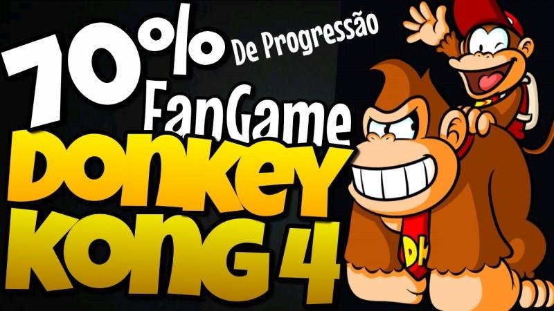 DONKEY KONG COUNTRY 4, FANGAME JÁ COM 70% PRONTO! | NOVAS FASES GAMEPLAY PT-BR | COM SUPER BOLA BROS