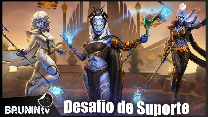 Marvel Reino dos Campeões - Desafio de Suporte