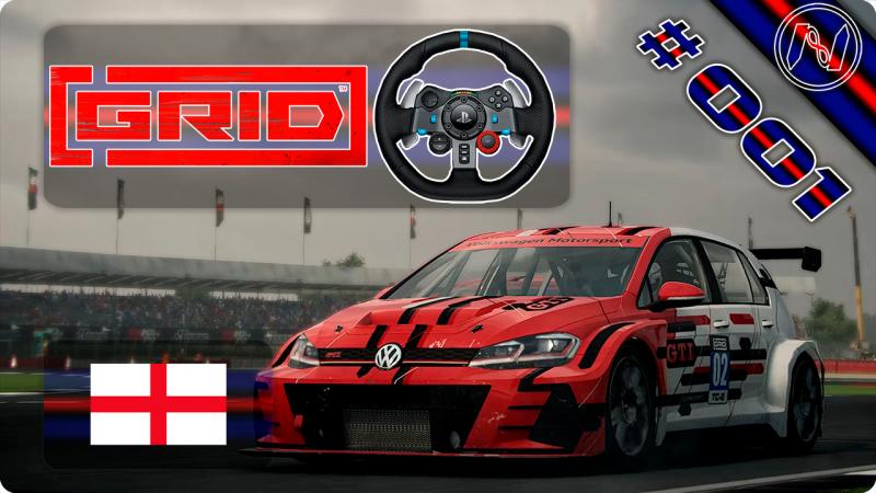 GRiD | Playthrough | G29 | Inglaterra | Silverstone | TC-2 | VW Golf GTi