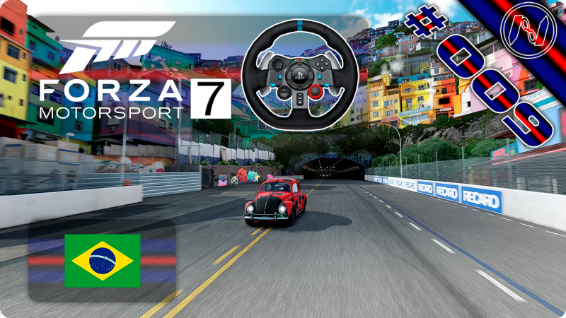 Forza Motorsport 7   Playthrough   G29   Brasil   Seeker Open 4-4   Rio Nacional Reverso   VW Beetle